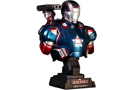 Фигурка Бюст Hot Toys Iron Man 3 Iron Patriot 1/4 Scale Limited Edition Collectible Bust фото 1