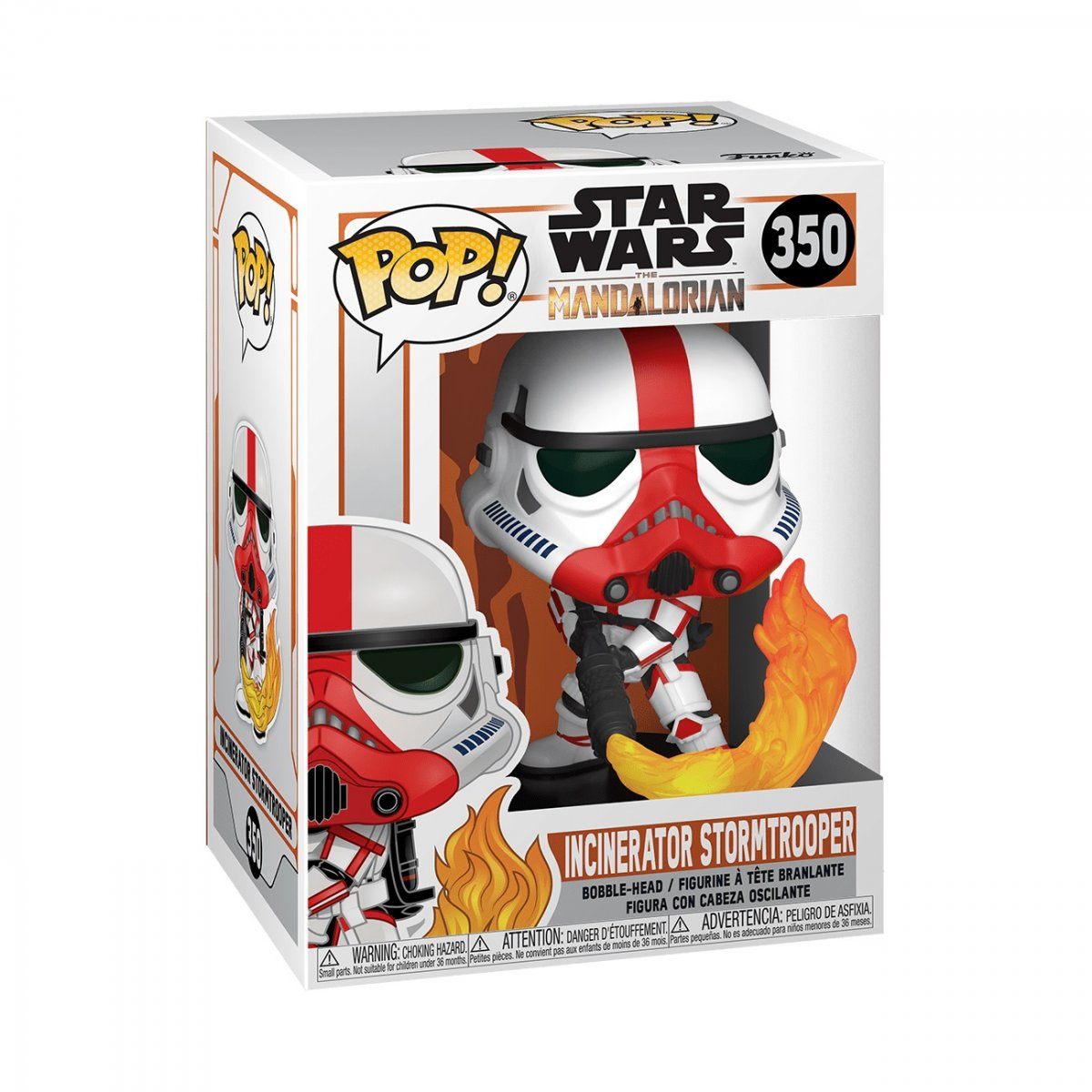 Фигурка Фигурка Funko POP! Bobble: Star Wars: Mandalorian: (46901) Incinerator Stormtrooper 45542
