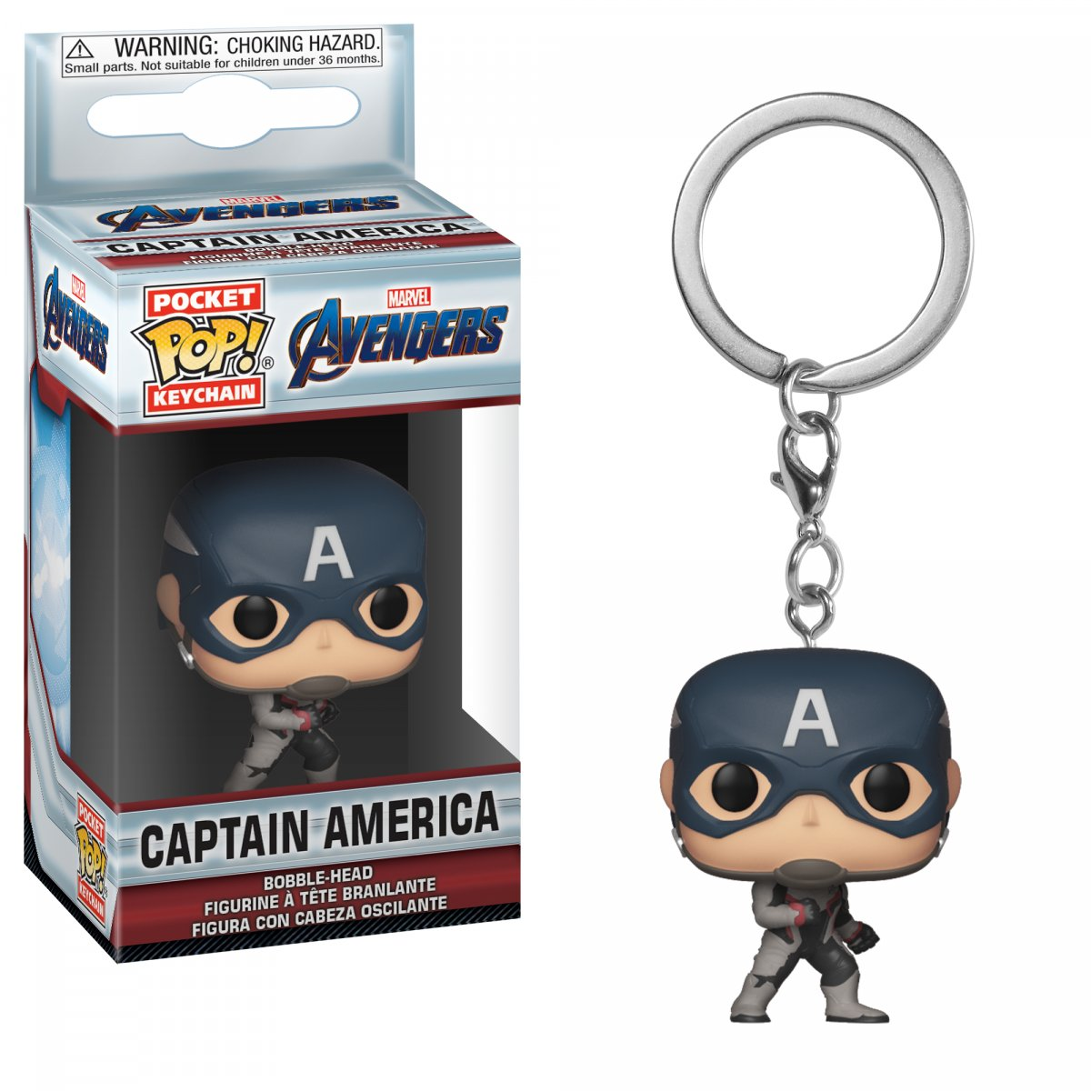 Брелок Funko Pocket POP! Keychain: Marvel: Avengers Endgame: Captain America 36678