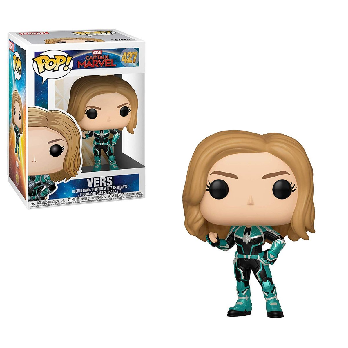 Фигурка Funko POP! Bobble: Marvel: Captain Marvel: Vers 36342