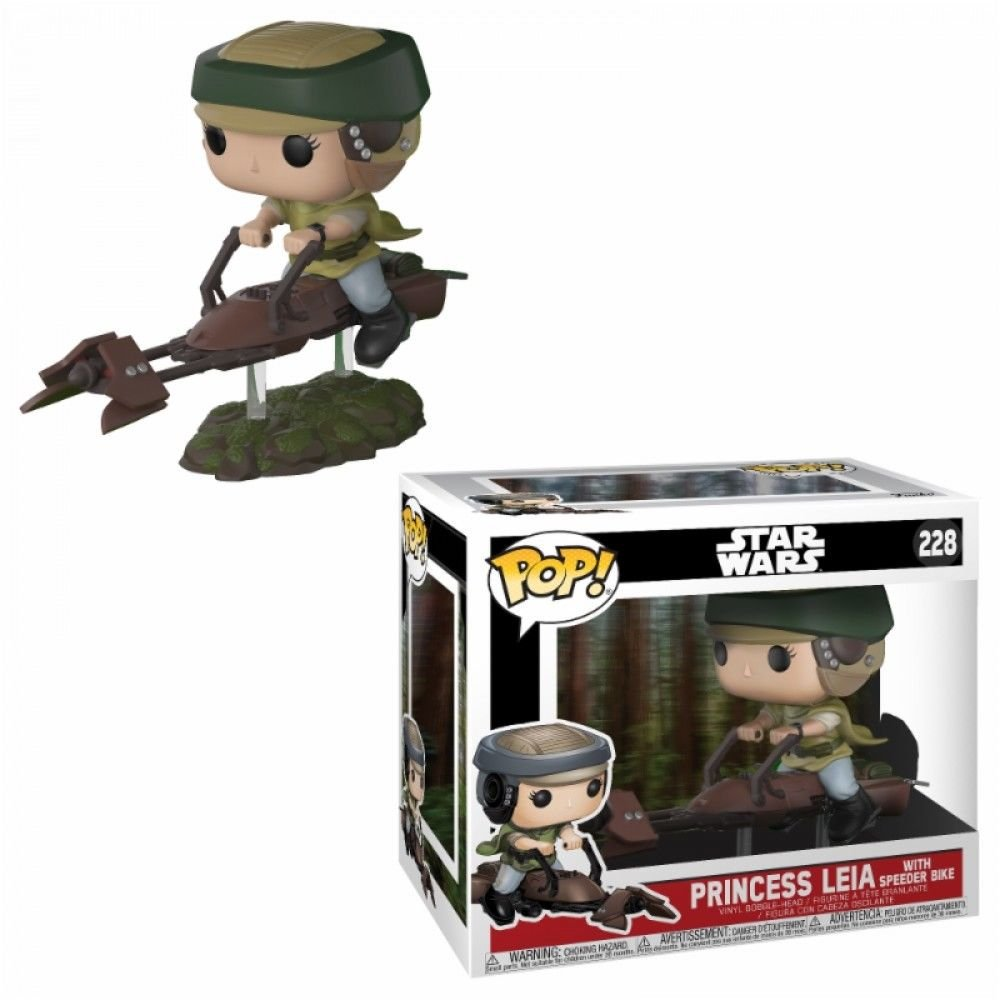 Фигурка Funko POP! Deluxe Vinyl: Star Wars: Speeder Bike w/ Leia 23253
