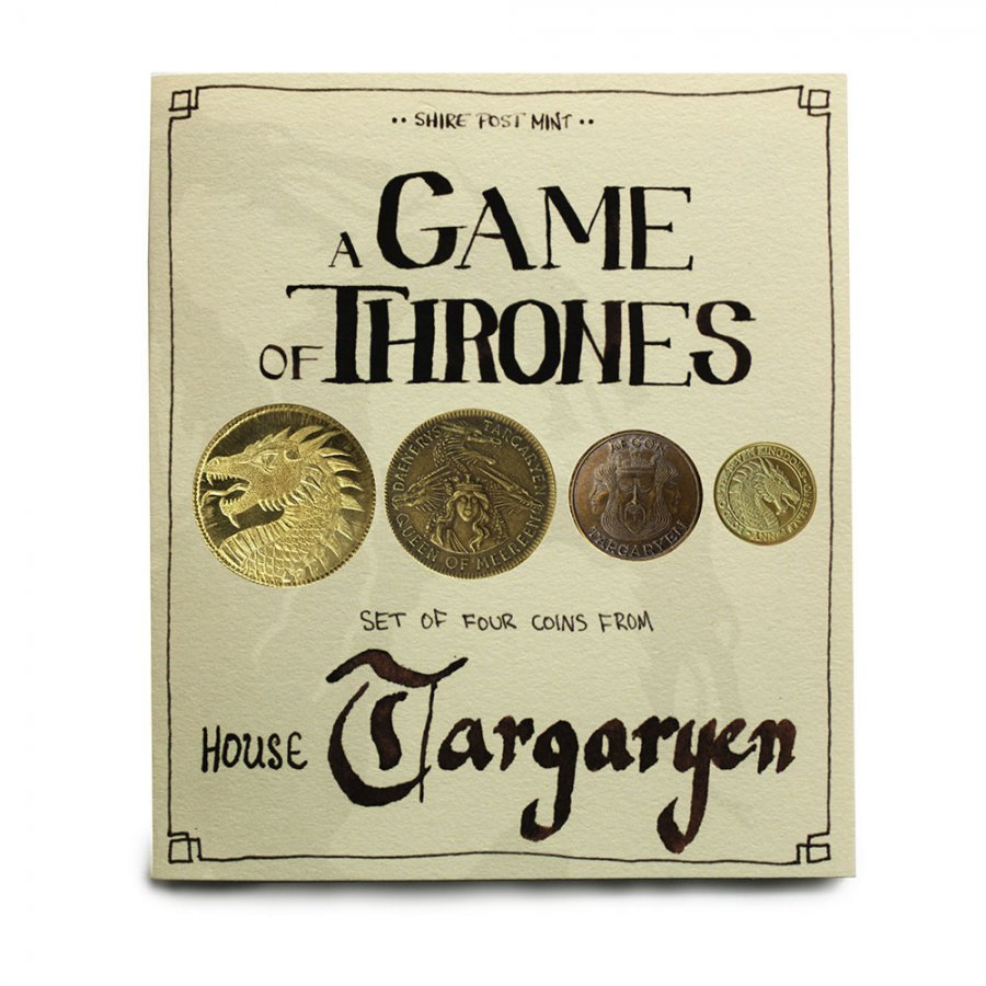 Фигурка Game of Thrones Coin Set House Targaryen / Игра Престолов - Набор Монет Дома Таргариенов