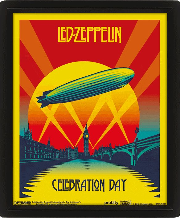 3D Постер Led Zeppelin (Celebration Day) EPPL71301