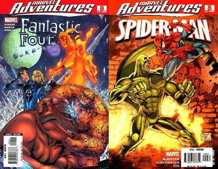 Комикс Marvel Adventures: Fantastic Four #8/ Marvel Adventures: Spider-Man #8 Double-size