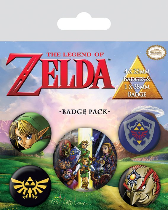 Значок Pyramid: Nintendo: The Legend Of Zelda набор 5 шт. BP80530