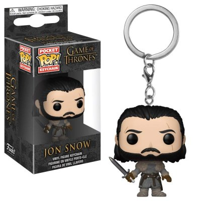 Фигурка Брелок Funko Pocket POP! Keychain: Game of Thrones S8: Jon Snow (Beyond the Wall) 31812