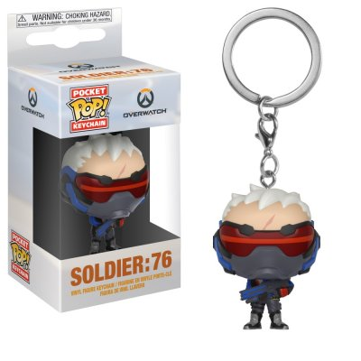 Фигурка Брелок Funko Pocket POP! Keychain: Overwatch: Soldier 76 32774-PDQ