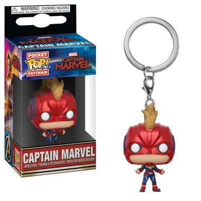 Фигурка Брелок Funko POP! Keychain: Marvel: Captain Marvel: Captain Marvel (with Helmet) 36439-PDQ