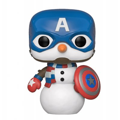 Фигурка Funko POP! Bobble: Marvel: Holiday: Capt America 43335