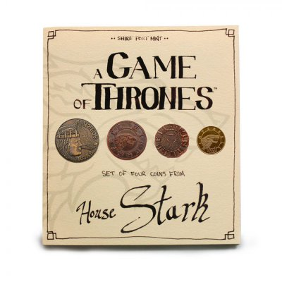 Фигурка Game of Thrones Coin Set House Stark / Игра Престолов - Набор Монет Дома Старков