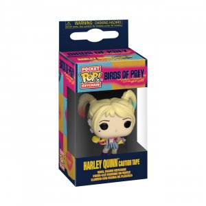 Фигурка Харли Квинн Funko Pocket POP! Keychain: Birds of Prey: Harley Quinn (Caution Tape) 44380-PDQ