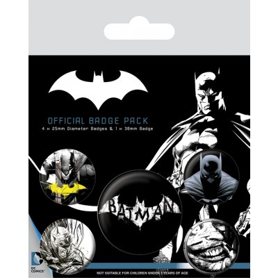 Значок Pyramid: DC: Batman (Dark) 5 шт. BP80546