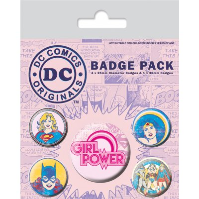 Значок Pyramid: DC: DC Comics (Girl Power) 5 шт. BP80552