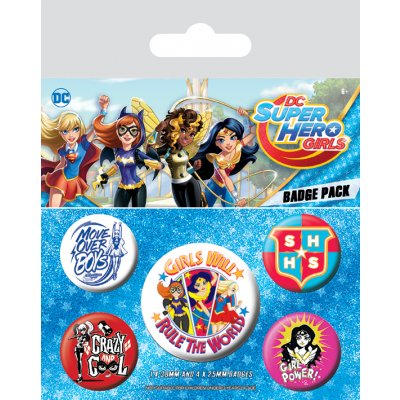 Значок Pyramid: DC: DC Super Hero Girls (Girls Will Rule The World) 5 шт. BP80576