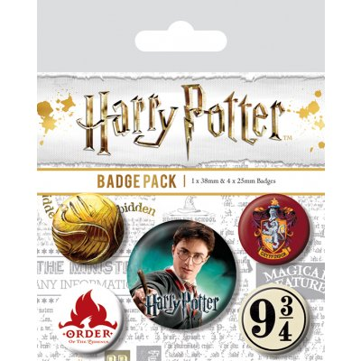 Значок Pyramid: Harry Potter (Gryffindor) 5 шт. BP80486