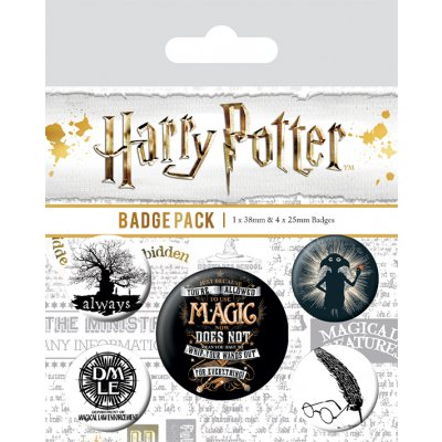 Значок Pyramid: Harry Potter (Symbols) 5 шт. BP80567