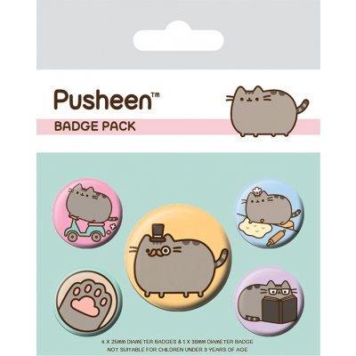 Значок Pyramid: Pusheen (Fancy) 5 шт. BP80623