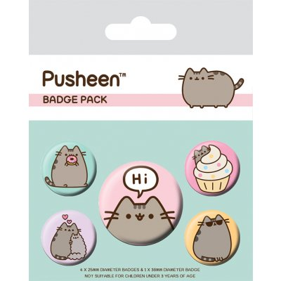 Значок Pyramid: Pusheen (Pusheen Says Hi) 5 шт. BP80624